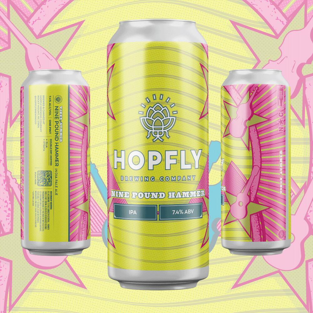 Hopfly Nine Pound Hammer IPA 4pk