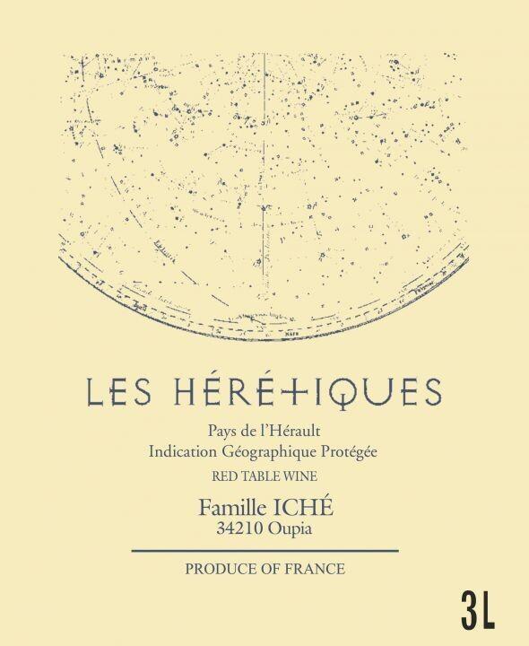 """Famille Iché IGP Pays d'Hérault """"Les Hérétiques"""" 2019 3L BiB"""