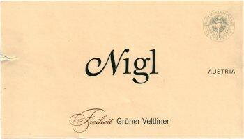 Nigl 2019 Gruner Veltliner Freiheit