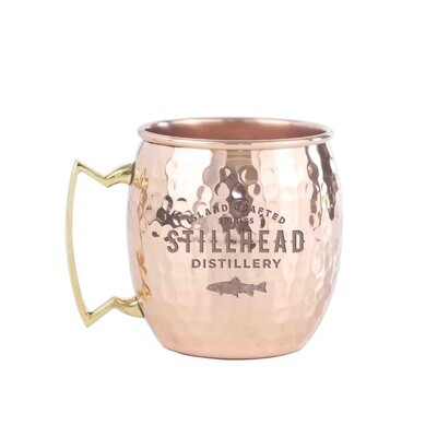 Logo-engraved 16oz Solid Copper Moscow Mule Mug with Brass Handle