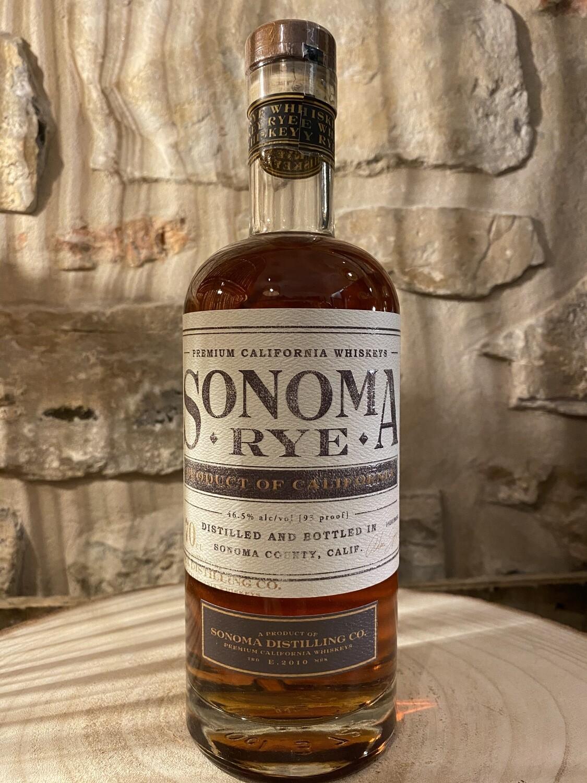 Rye Whisky Sonoma, Californie