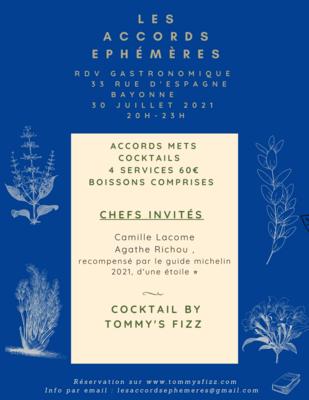 30/07 Accords Mets et Cocktails Les Accords éphémères - Bayonne