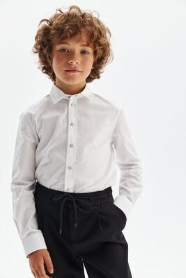 Сорочка трикотажная длинный рукав на кнопках