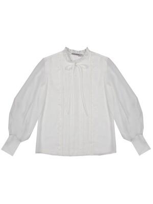 """Блуза дл.рук """"Складки с кружевом"""""""
