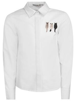 "Блуза дл.рукав ""Вышивка на полочке Три кота"""