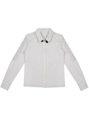 """Блуза трик. дл.рук """"Кружево по кокетке и рукаву"""""""