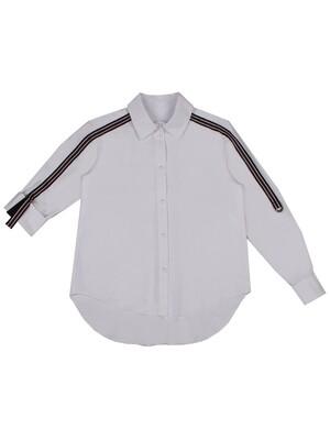 """Блуза дл.рук """"Репсовая лента по рукавам"""""""