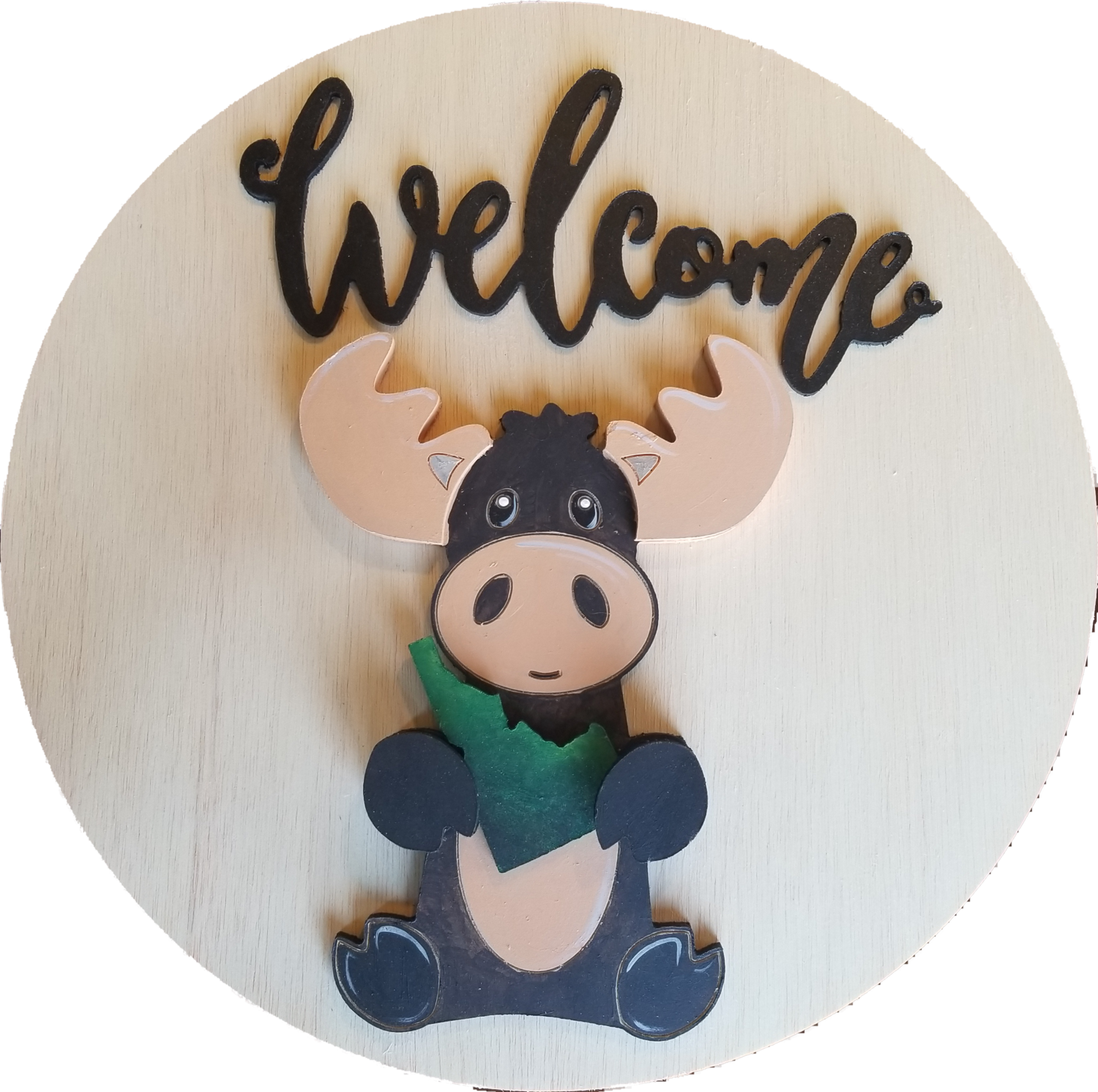 DIY Unpainted Moose Cutout with Drop ins and 14
