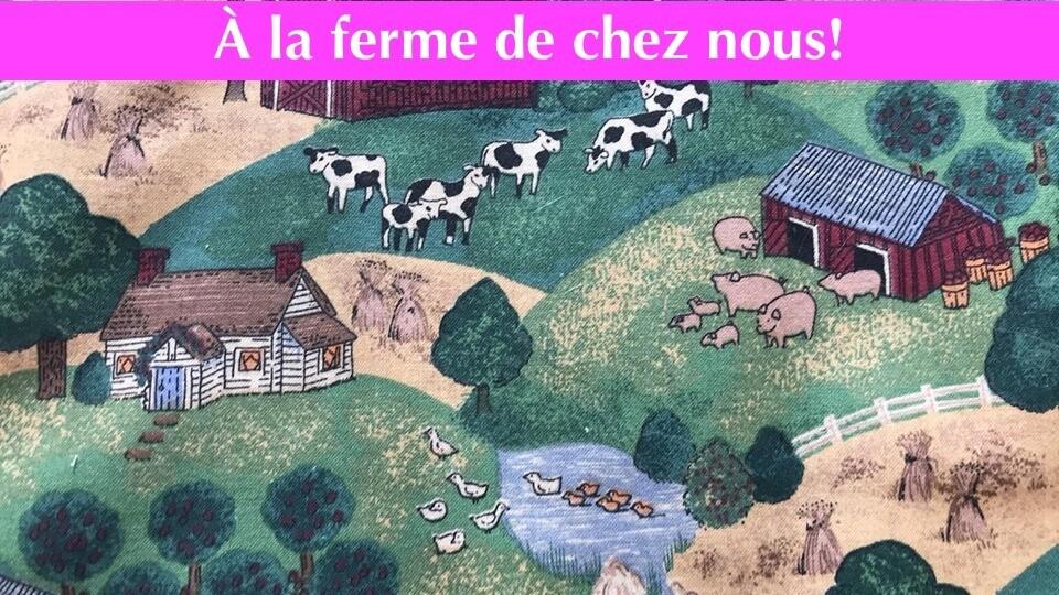 Masque - À la ferme