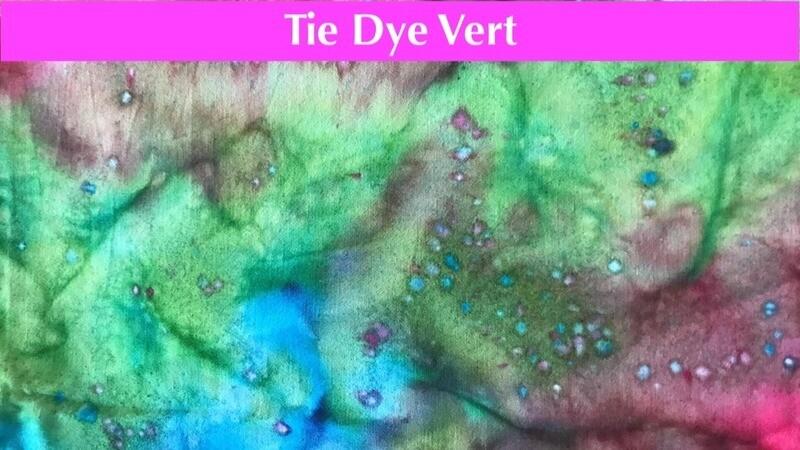 Masque premium - Tie Dye Vert