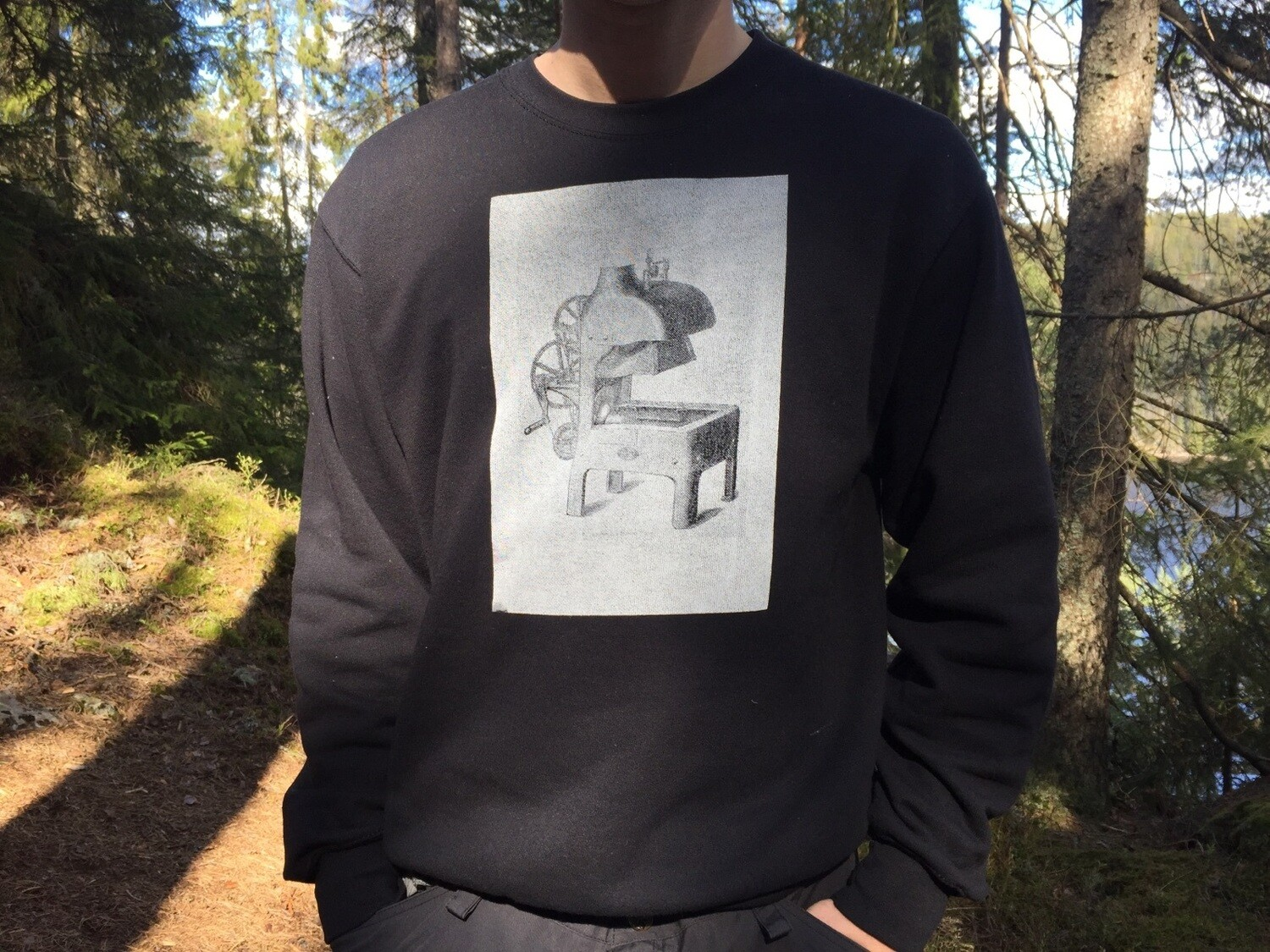 Alldays & Onions Screenprinted Sweatshirt, Black