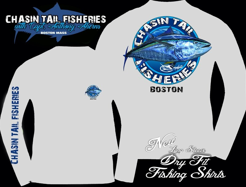 Chasin Tail Dry Fit Long Sleeve Fishing Shirt Pearl Gray