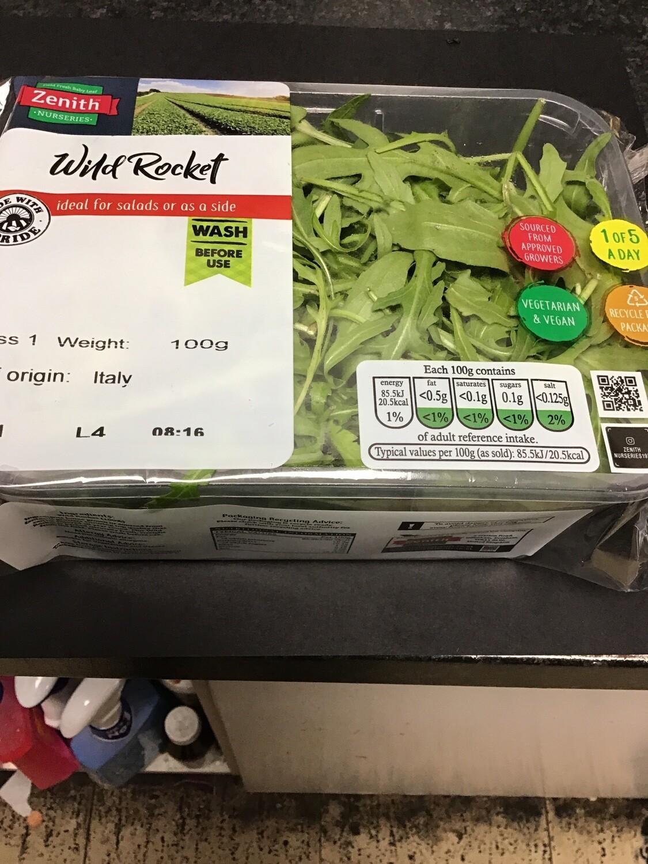 English Rocket salad leaf -pack