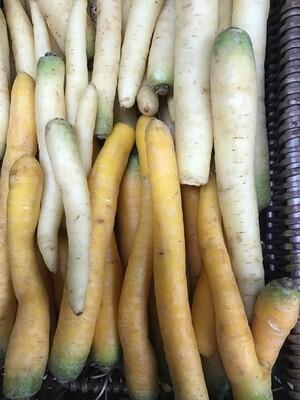 Heritage White Carrots  500g
