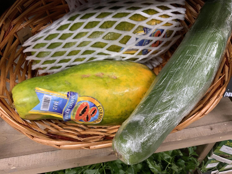 Green Papaya.  Large