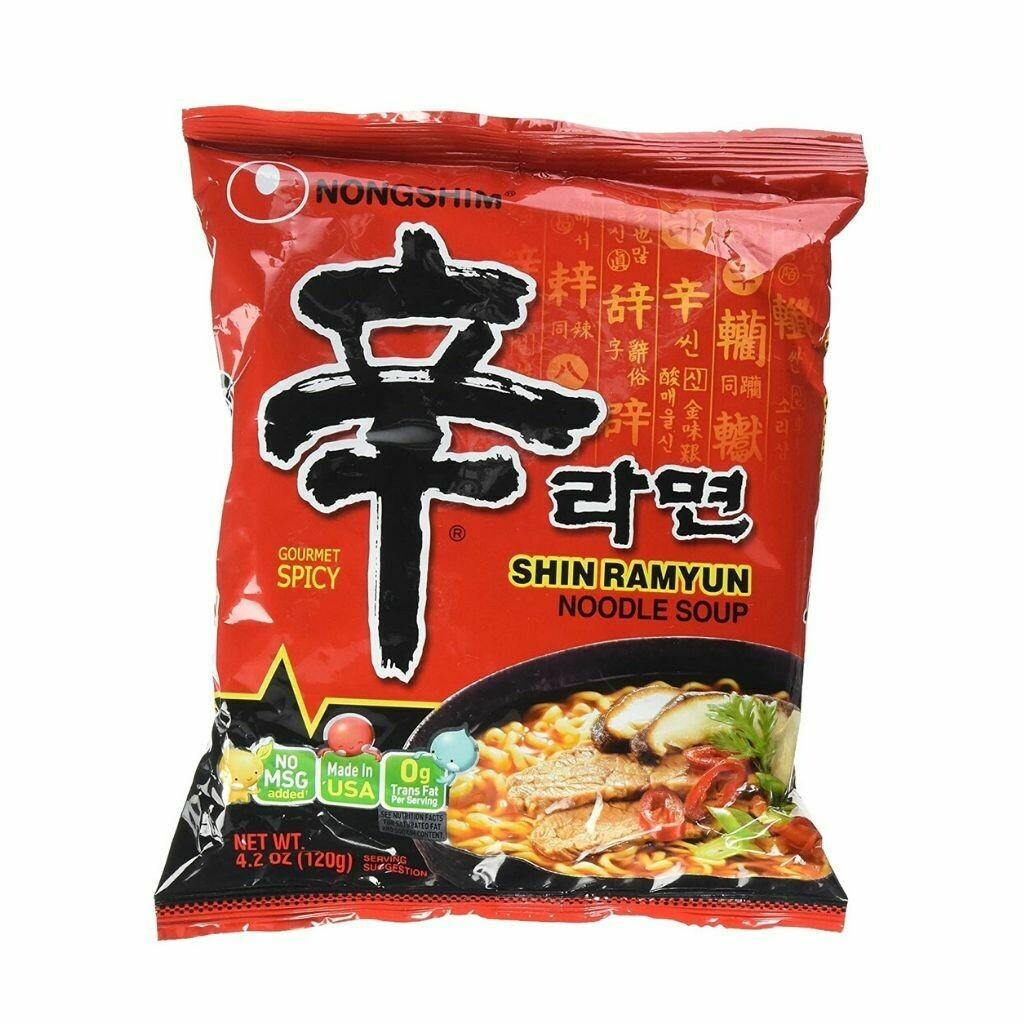 Shin Ramyun Hot Spicy Ramen Noodle Soup