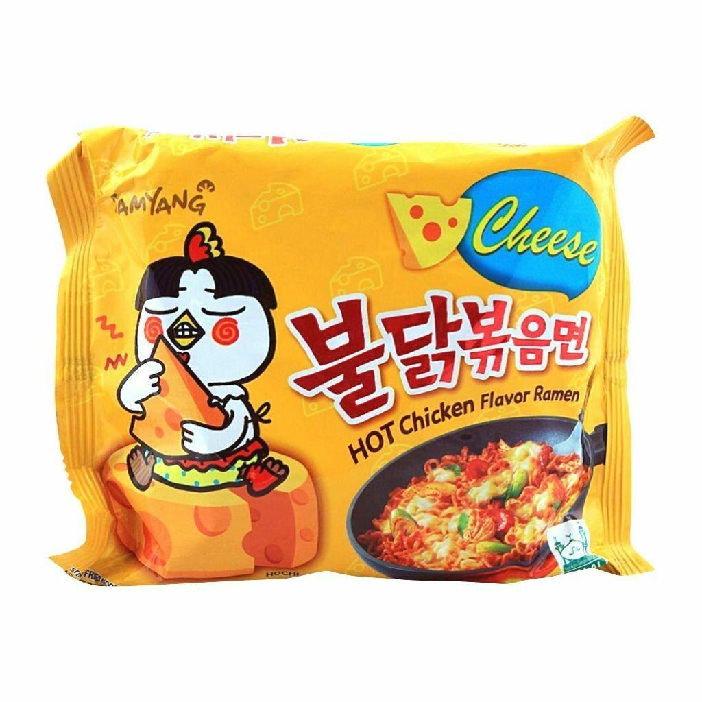 Samyang Cheese Hot Chicken Flavor Ramen Noodles