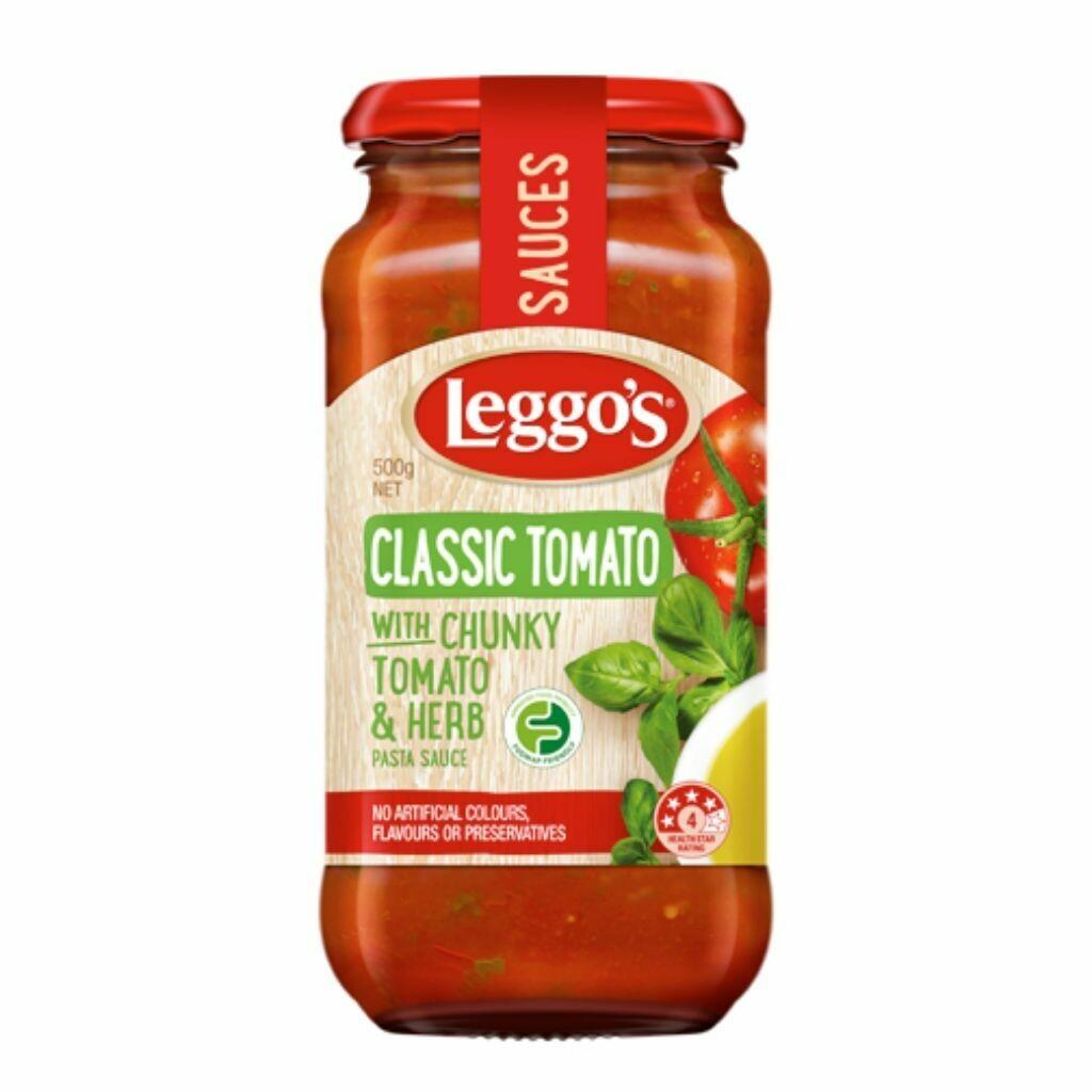 Leggos Cheesy Tomato with Chunky Tomato & Basil Pasta Sauce