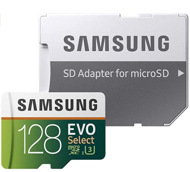 Samsung EVO 128GB 100MB/s U3 Micro SD Memory Card
