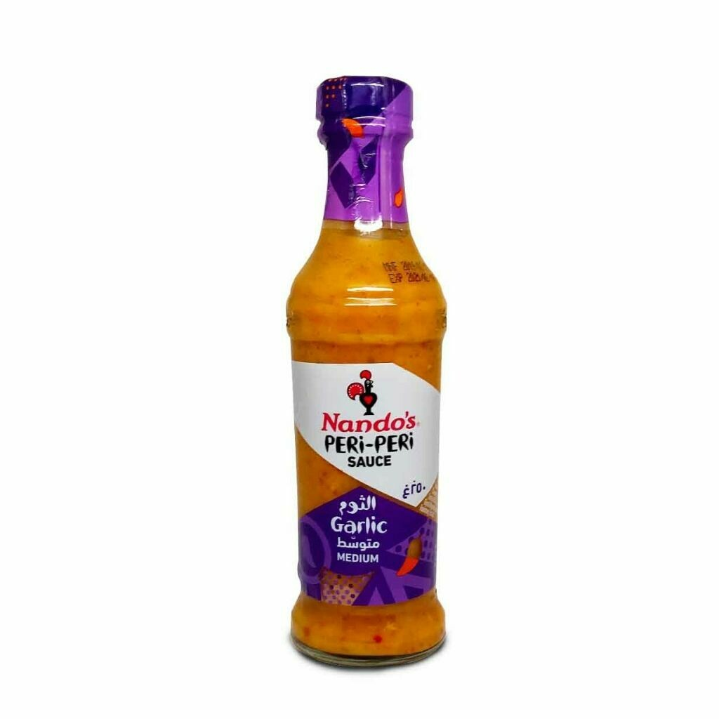 Nandos Peri Peri Garlic Medium Hot Sauce
