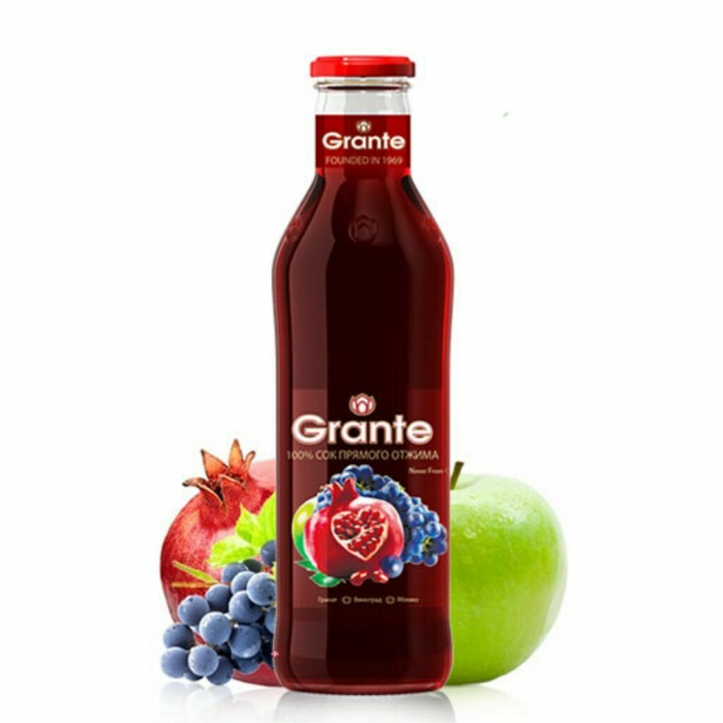 Grante Juices - Pomegranate, Apple & Grape Juice 750ml