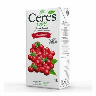 Ceres 100% Cranberry Juice 1000ml