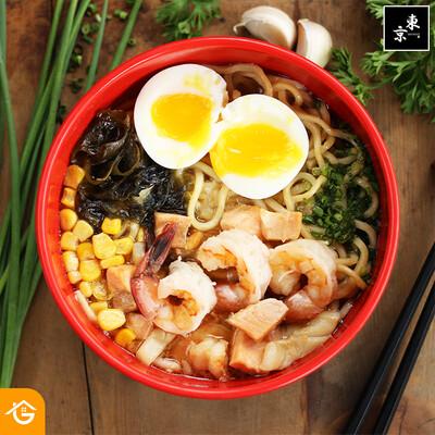Seafood Ramen (Frozen) - Tokyo Kitchen
