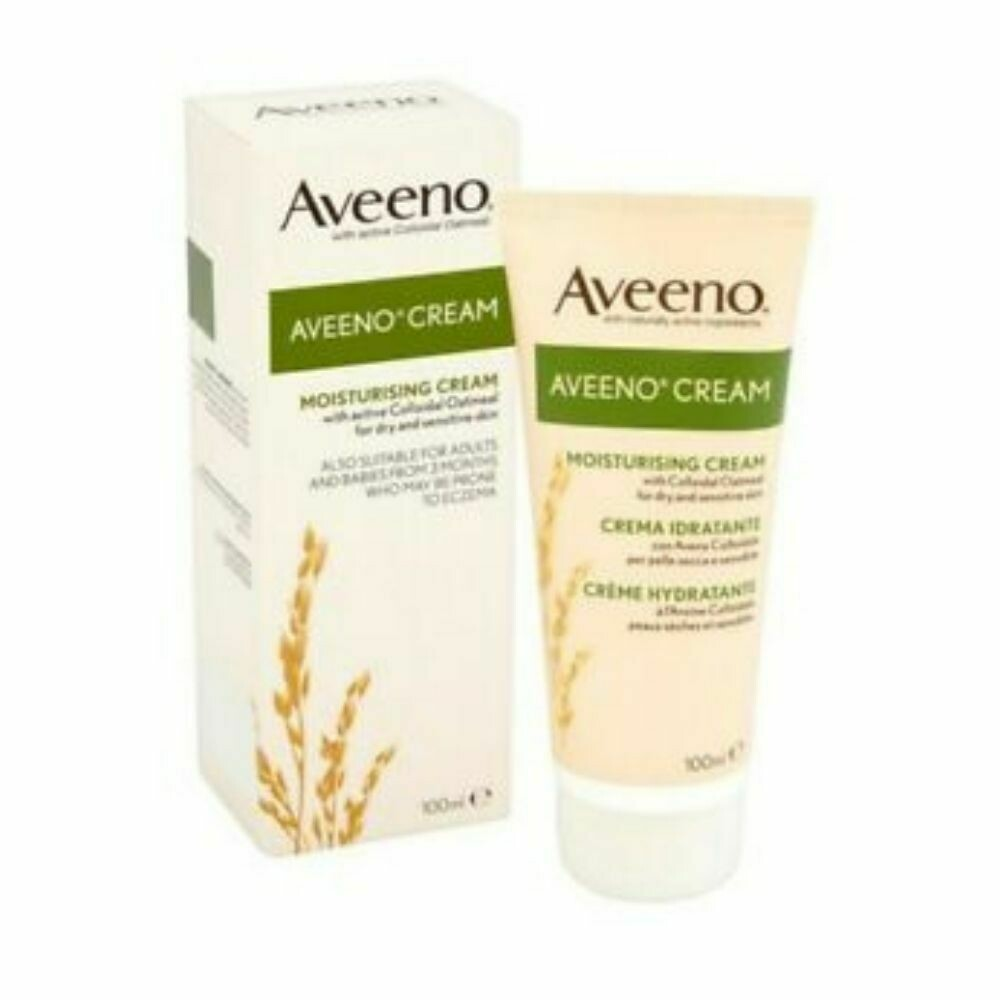 Aveeno Moisturing Cream with ActiveColloidal Oatmeal 100ml (UK)