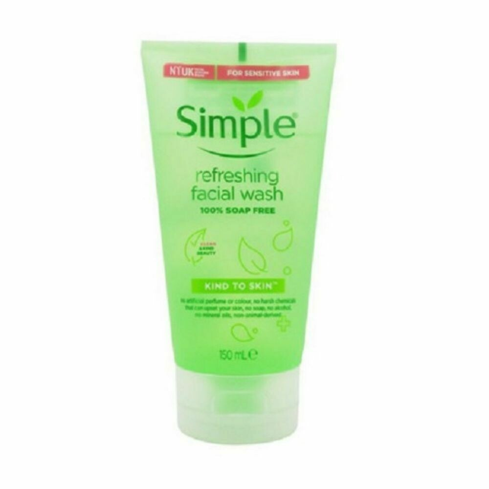 Simple Refreshing Facial Wash Gel 150ml (UK)
