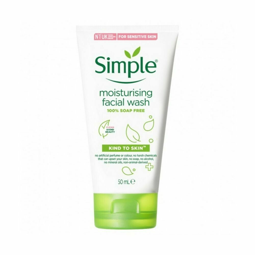 Simple Moisturising Facial wash 50ml (UK)