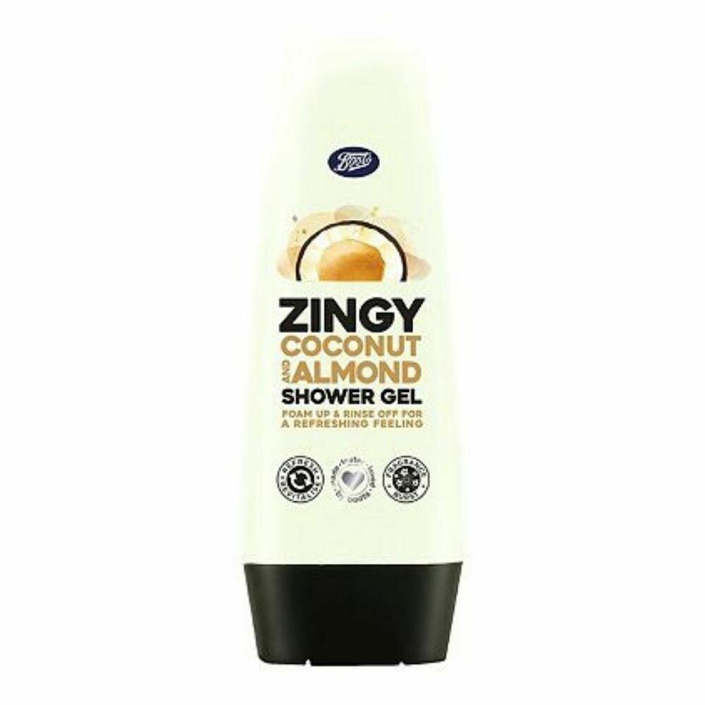 Boots Zingy Coconut & Almond Shower Gel 250ml (UK)