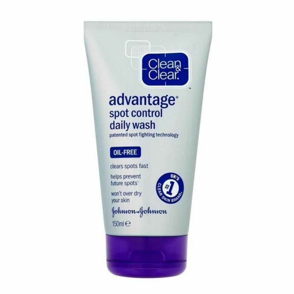 Clean & Clear Advantage Spot Control Daily Facial Wash 150ml