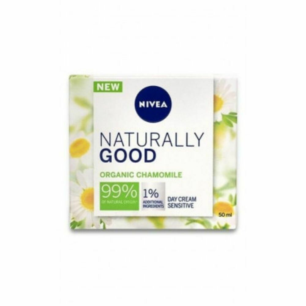 Nivea Naturally Good Chamomile Day Cream Sensitive 50ml (UK)