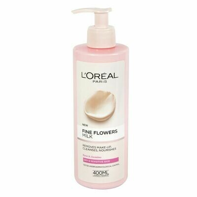 Loreal Fine Flower Milk Cleanser - 400ml (UK)