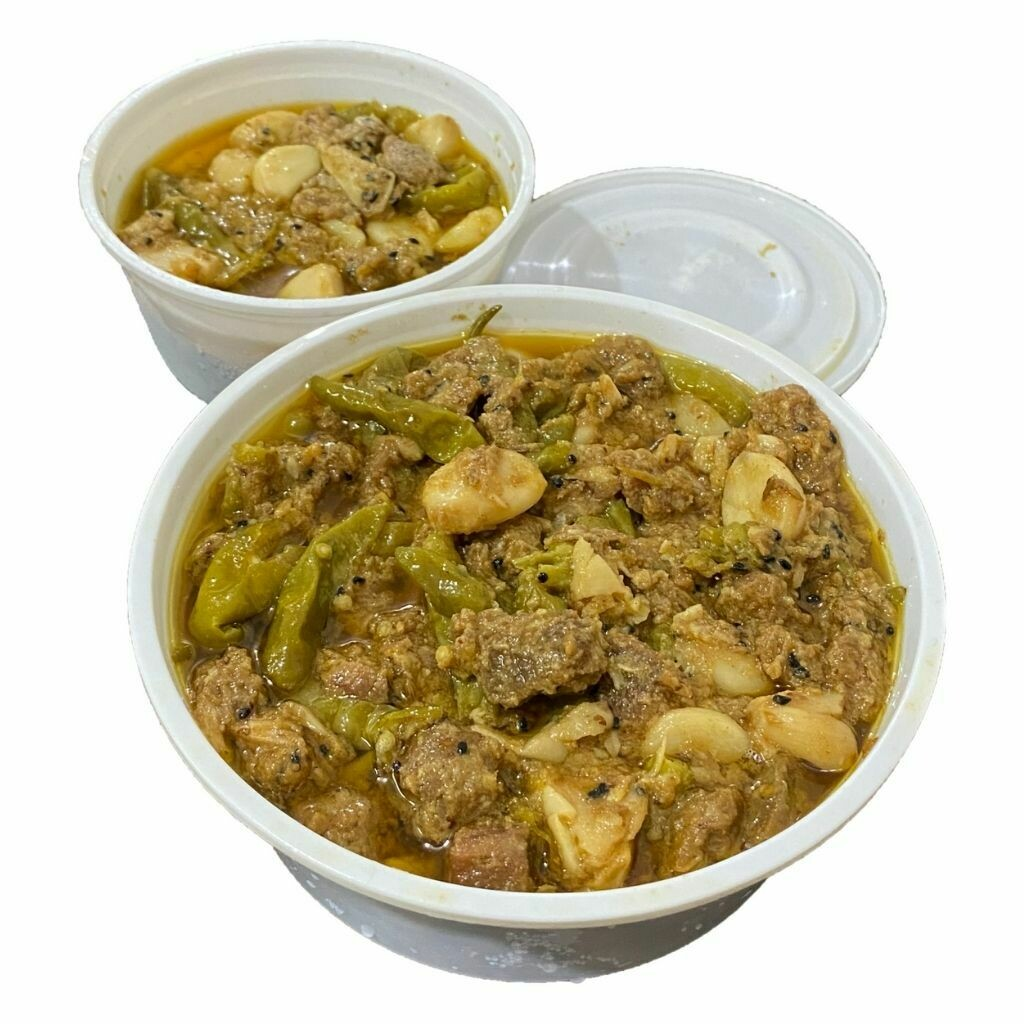Homemade Spicy Beef Achari with Garlic - Petuk Couple's Mother Special