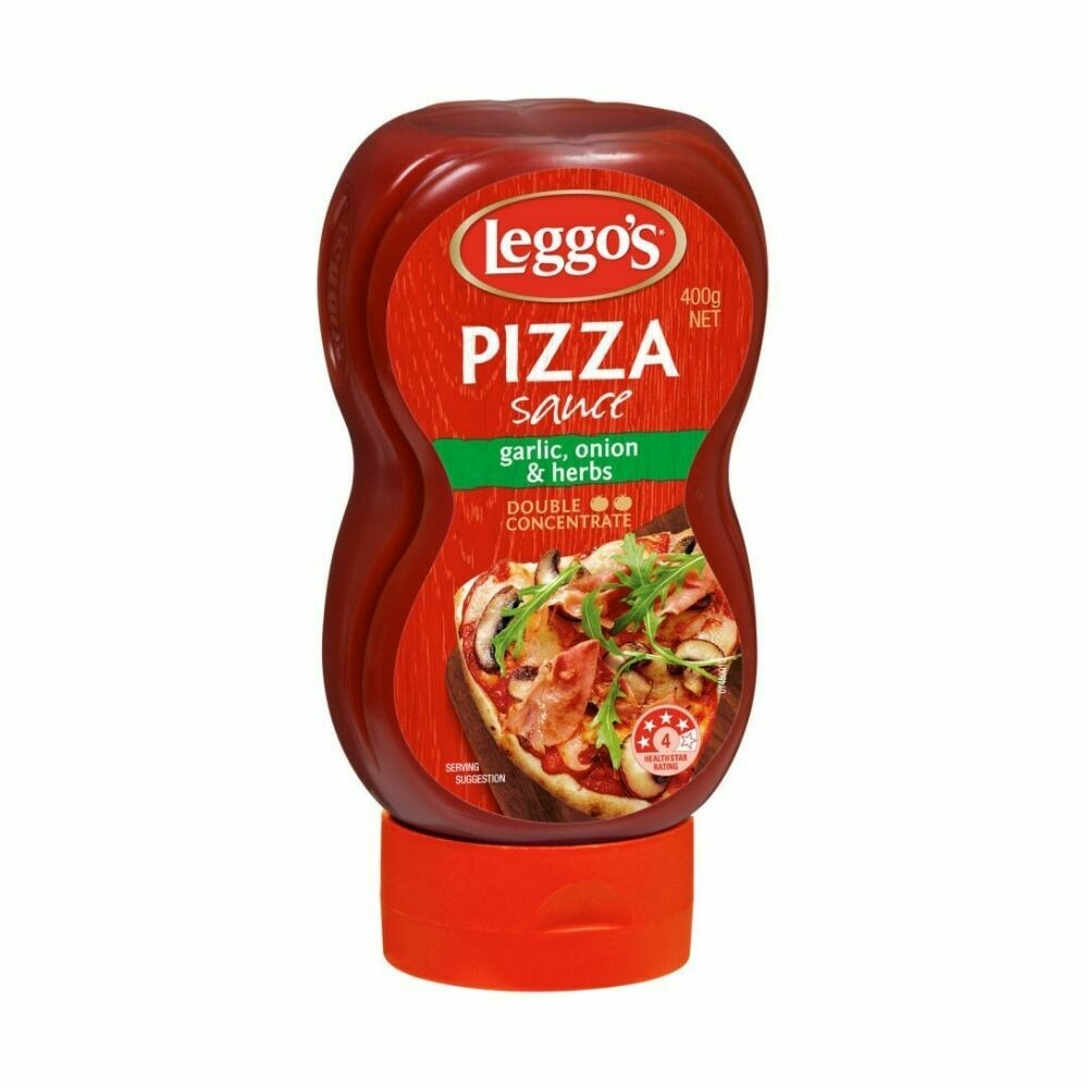 Leggo's Squeezy Pizza Sauce Garlic, Onions & Herbs-400g