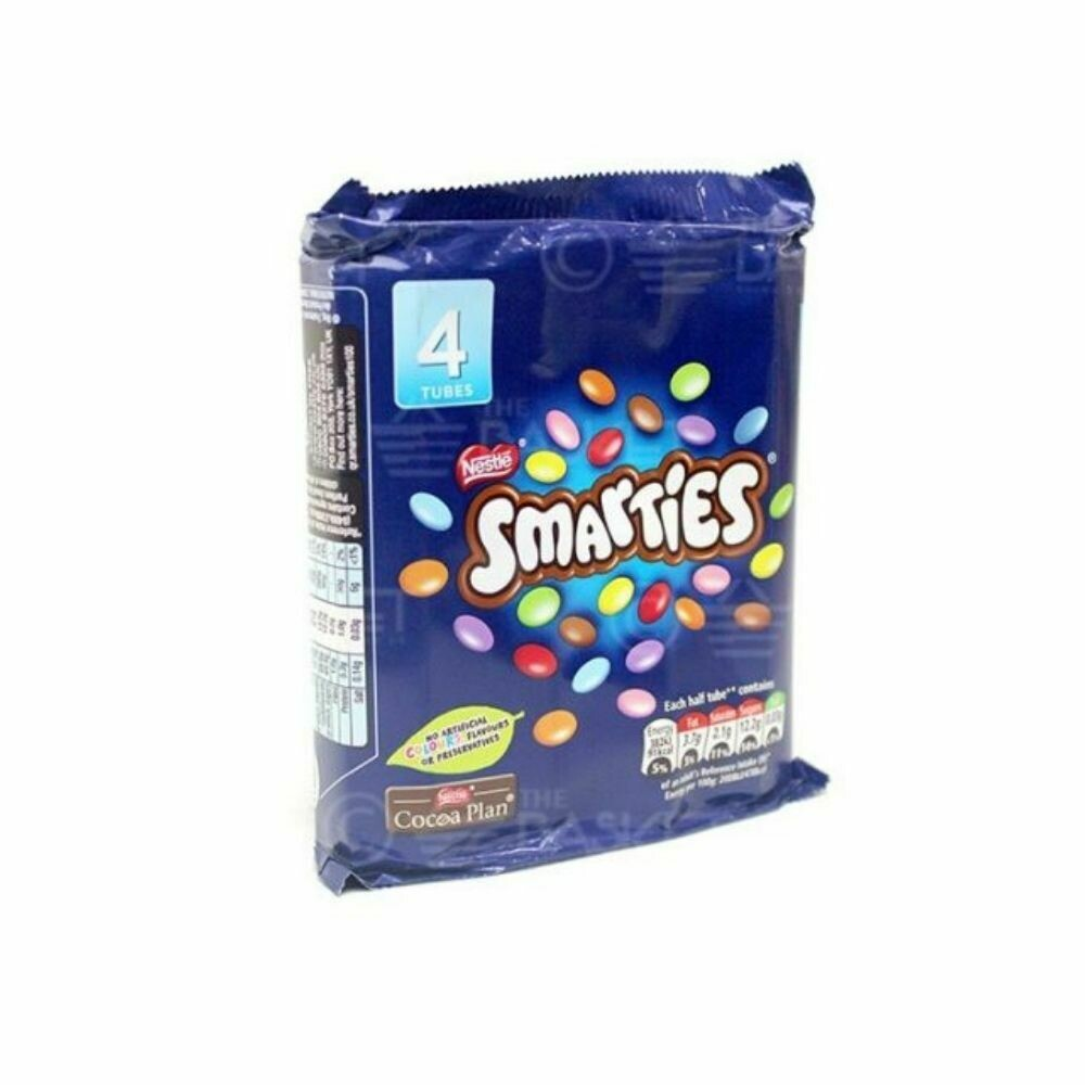 Nestle Smarties- 4 Tubes