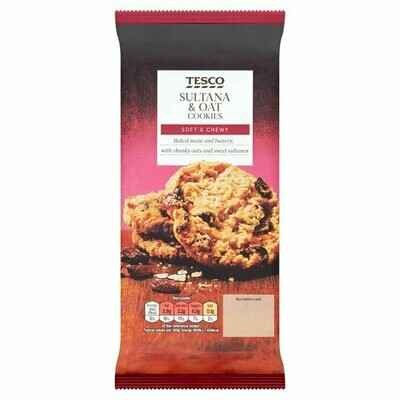 Tesco Sultana And Oat Cookies