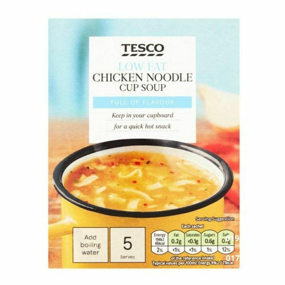 Tesco Low Fat Chicken Noodle Cup Soup