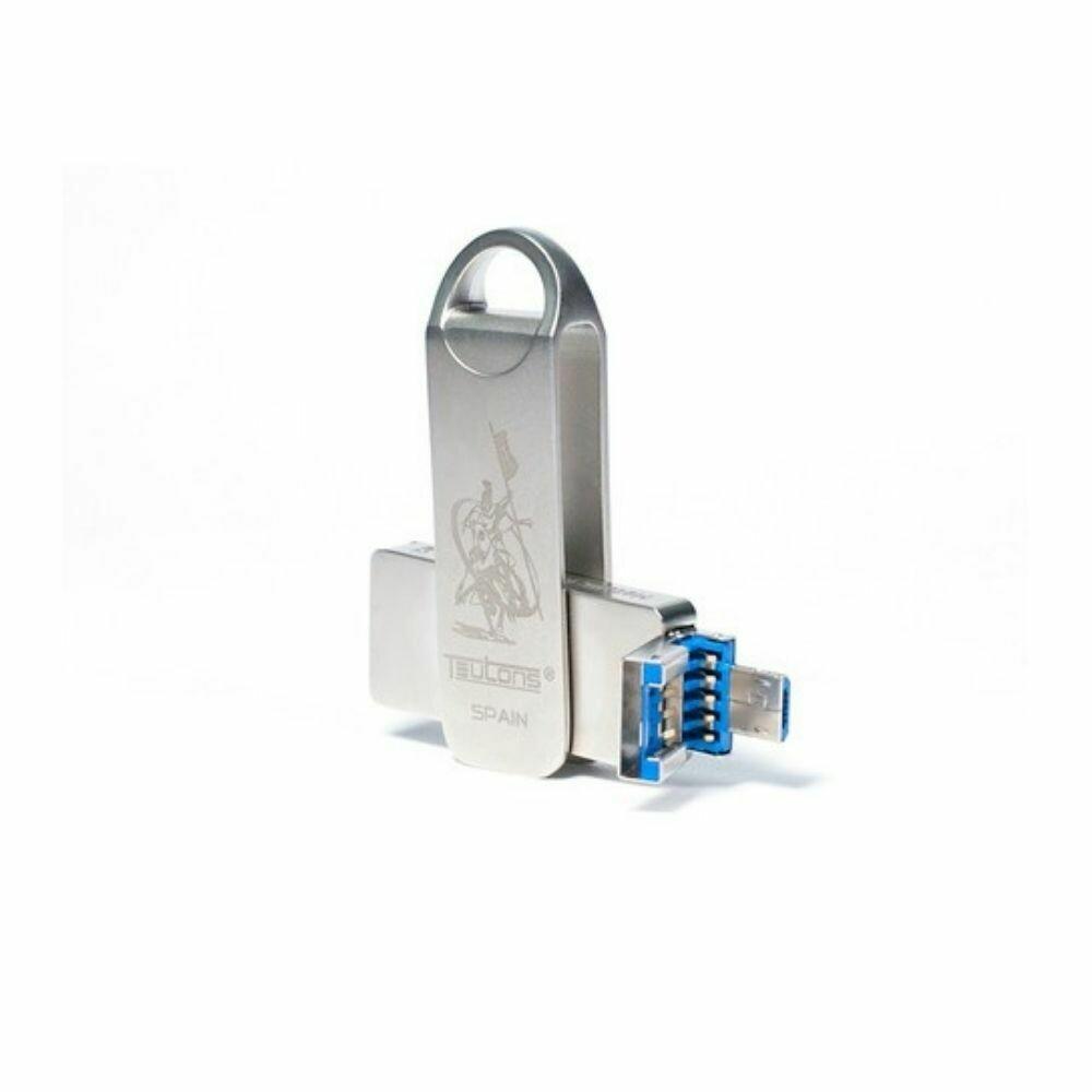 Teutons Metallic Knight Squared 128GB USB 3.1 Gen 1 Flash Drive