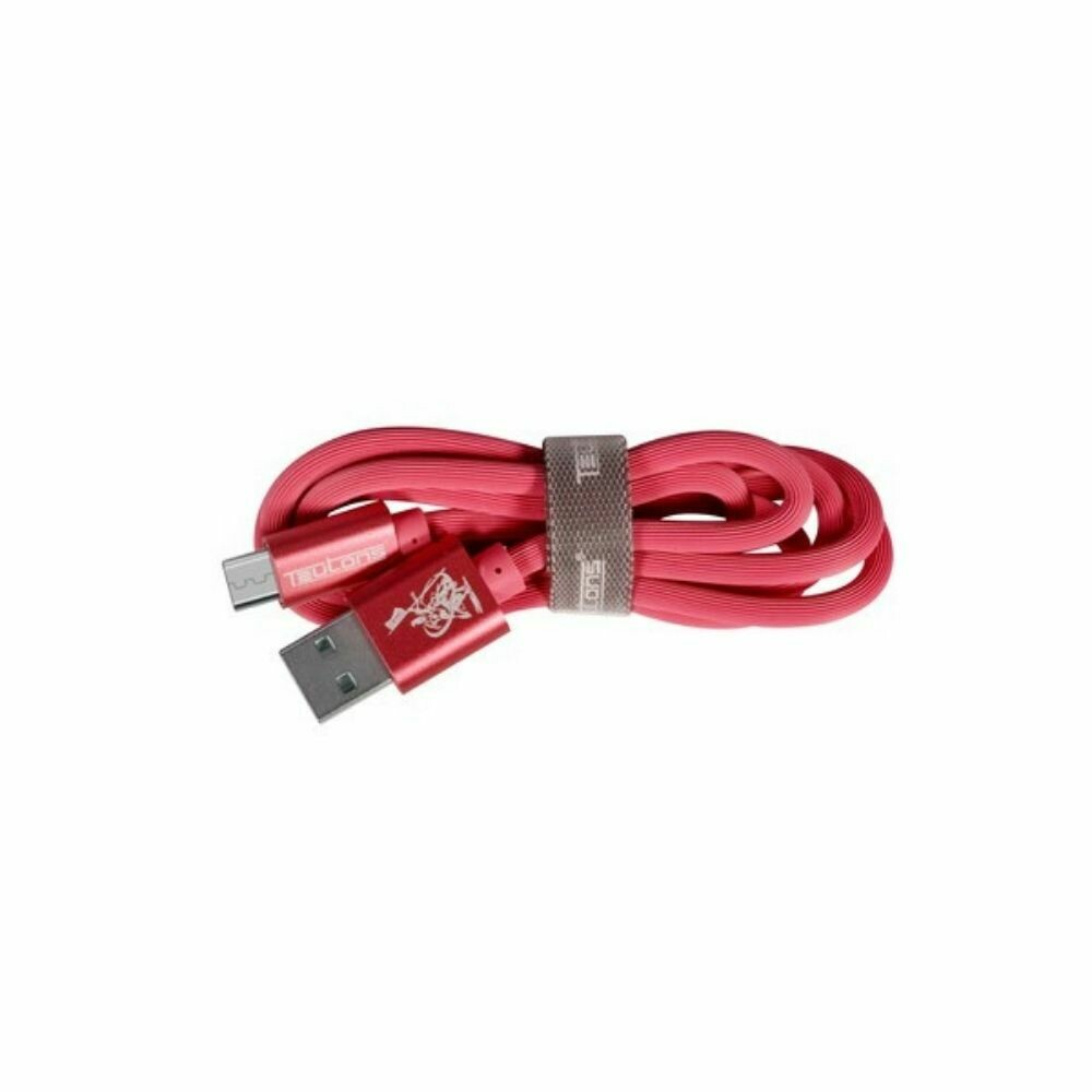 Teutons Zlin-FM124 (1.M) True Length Micro USB Fast Charging Cable Red