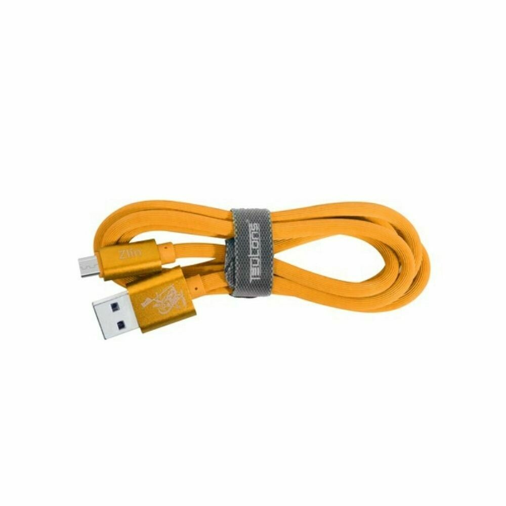 Teutons Zlin-FM124 (1.M) True Length Micro USB Fast Charging Cable Orange