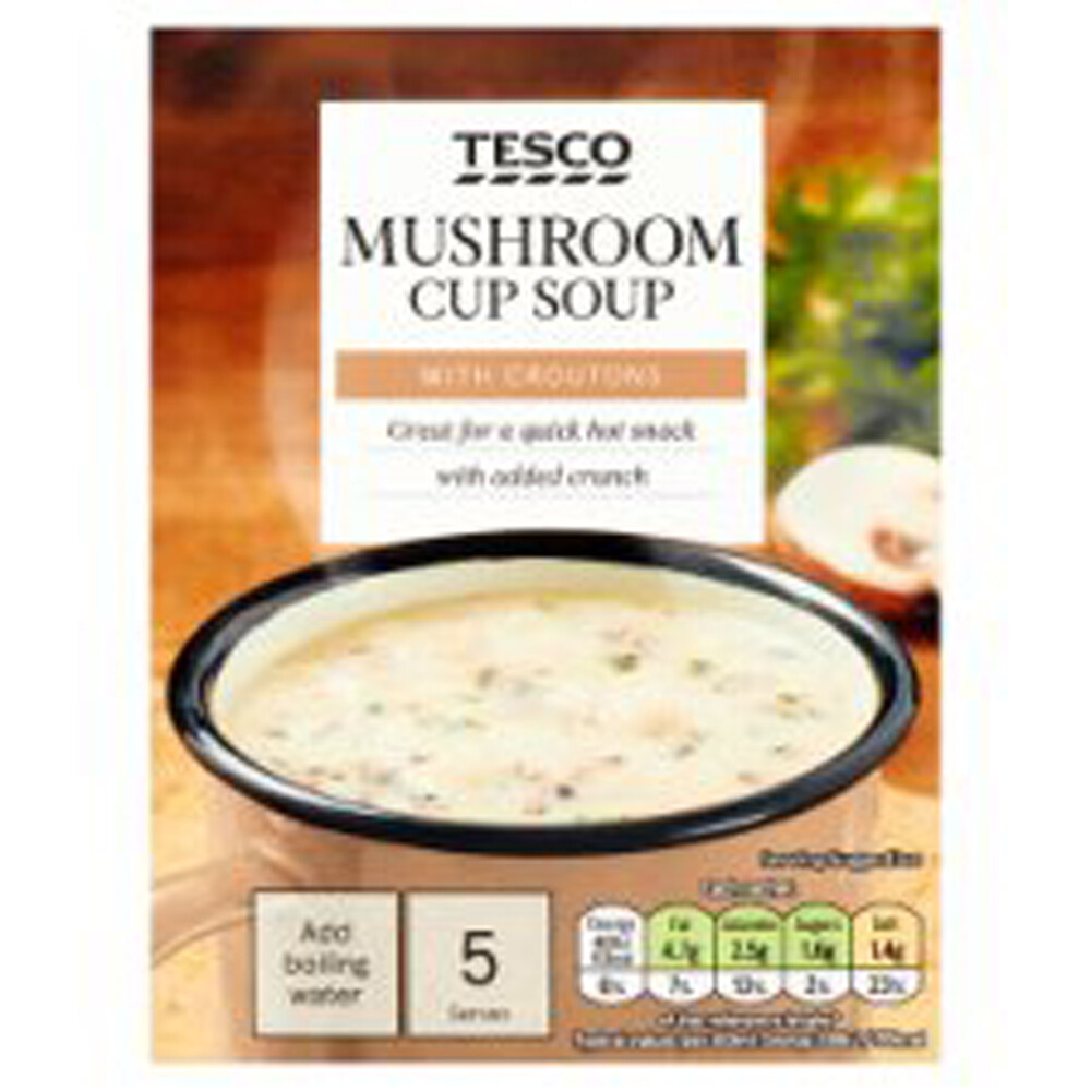 Tesco Mushroom Cup Soup With Croutons