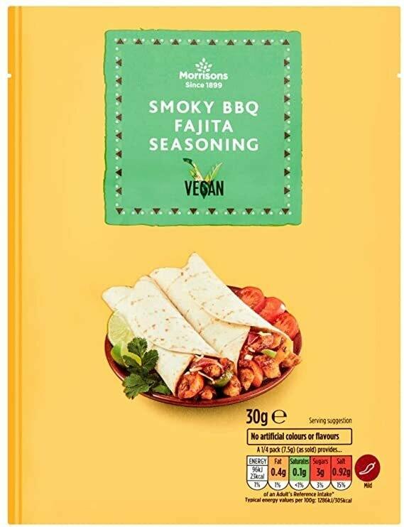 Morrisons Fajitas Seasoning-Smokey BBQ