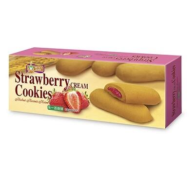 Strawberry Cream Cookies-Cocoland