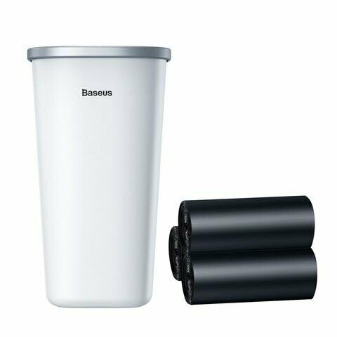 Baseus Dust-free Vehicle-mounted Trash Can(Trash Bag 3 roll/90) White