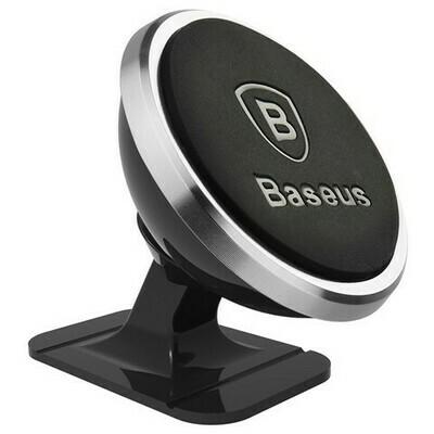 Baseus 360-degree Rotation Magnetic Mount Holder(Paste type) Silver