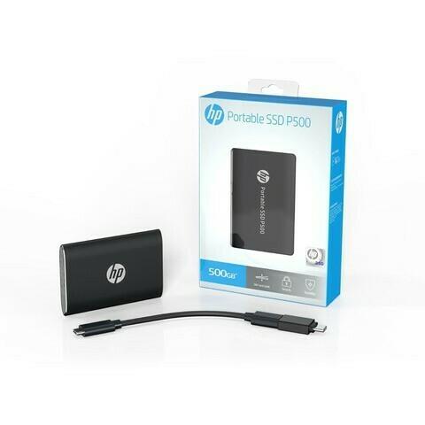 HP PORTABLE SSD 500GB P500 BLACK