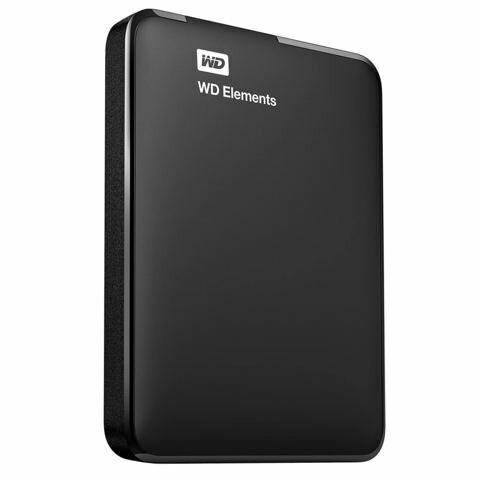 Western Digital Elements 2TB USB 3.0 Black External HDD
