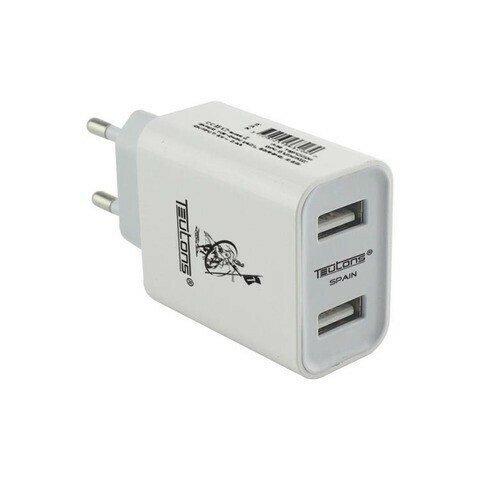 Teutons Wall Adapter with Type C DATA Cable Quick Charge 3.0 White